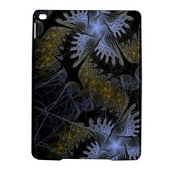 Fractal Wallpaper With Blue Flowers iPad Air 2 Hardshell Cases