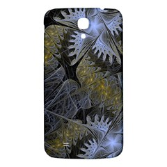 Fractal Wallpaper With Blue Flowers Samsung Galaxy Mega I9200 Hardshell Back Case by Amaryn4rt