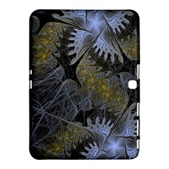 Fractal Wallpaper With Blue Flowers Samsung Galaxy Tab 4 (10.1 ) Hardshell Case