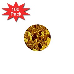 Yellow Cast Background 1  Mini Buttons (100 Pack)  by Amaryn4rt