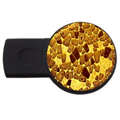 Yellow Cast Background Usb Flash Drive Round (2 Gb) by Amaryn4rt