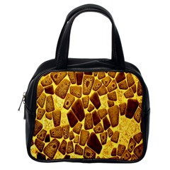 Yellow Cast Background Classic Handbags (one Side) by Amaryn4rt