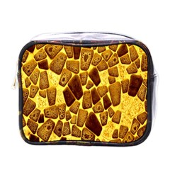 Yellow Cast Background Mini Toiletries Bags by Amaryn4rt