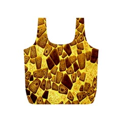 Yellow Cast Background Full Print Recycle Bags (s)  by Amaryn4rt