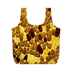 Yellow Cast Background Full Print Recycle Bags (m)  by Amaryn4rt