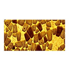 Yellow Cast Background Satin Wrap by Amaryn4rt