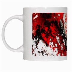 Red Fractal Art White Mugs by Amaryn4rt