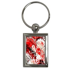 Red Fractal Art Key Chains (rectangle)  by Amaryn4rt