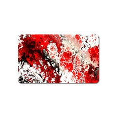 Red Fractal Art Magnet (name Card) by Amaryn4rt