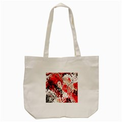 Red Fractal Art Tote Bag (cream) by Amaryn4rt