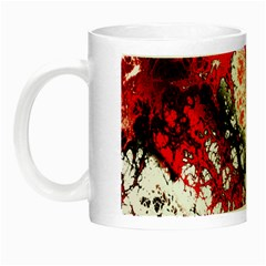 Red Fractal Art Night Luminous Mugs by Amaryn4rt