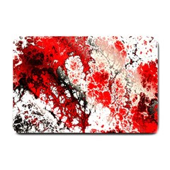 Red Fractal Art Small Doormat  by Amaryn4rt