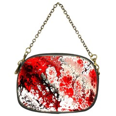 Red Fractal Art Chain Purses (one Side)  by Amaryn4rt