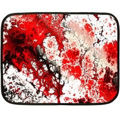 Red Fractal Art Double Sided Fleece Blanket (mini)  by Amaryn4rt