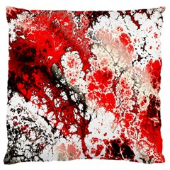 Red Fractal Art Large Cushion Case (two Sides) by Amaryn4rt