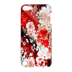 Red Fractal Art Apple Ipod Touch 5 Hardshell Case by Amaryn4rt