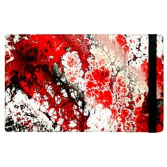 Red Fractal Art Apple Ipad 3/4 Flip Case by Amaryn4rt