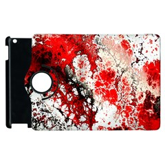 Red Fractal Art Apple Ipad 3/4 Flip 360 Case by Amaryn4rt
