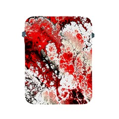 Red Fractal Art Apple Ipad 2/3/4 Protective Soft Cases by Amaryn4rt