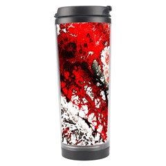 Red Fractal Art Travel Tumbler by Amaryn4rt