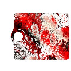 Red Fractal Art Kindle Fire Hdx 8 9  Flip 360 Case by Amaryn4rt