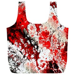 Red Fractal Art Full Print Recycle Bags (l)  by Amaryn4rt