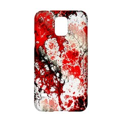 Red Fractal Art Samsung Galaxy S5 Hardshell Case  by Amaryn4rt