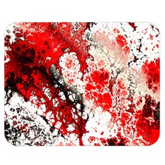 Red Fractal Art Double Sided Flano Blanket (medium)  by Amaryn4rt