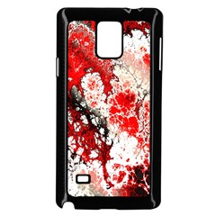 Red Fractal Art Samsung Galaxy Note 4 Case (black) by Amaryn4rt