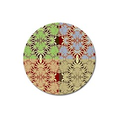 Multicolor Fractal Background Magnet 3  (round) by Amaryn4rt