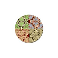 Multicolor Fractal Background Golf Ball Marker by Amaryn4rt