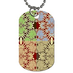 Multicolor Fractal Background Dog Tag (two Sides) by Amaryn4rt