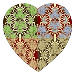 Multicolor Fractal Background Jigsaw Puzzle (heart) by Amaryn4rt