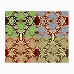 Multicolor Fractal Background Small Glasses Cloth (2 Side) by Amaryn4rt