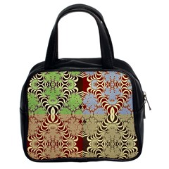 Multicolor Fractal Background Classic Handbags (2 Sides) by Amaryn4rt