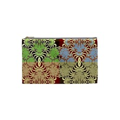 Multicolor Fractal Background Cosmetic Bag (small)  by Amaryn4rt