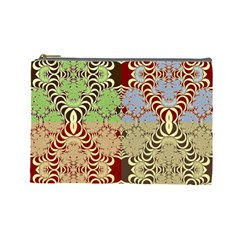 Multicolor Fractal Background Cosmetic Bag (large)  by Amaryn4rt