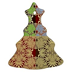 Multicolor Fractal Background Christmas Tree Ornament (two Sides)