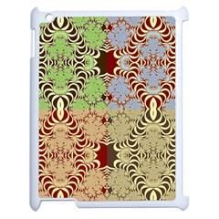 Multicolor Fractal Background Apple Ipad 2 Case (white) by Amaryn4rt