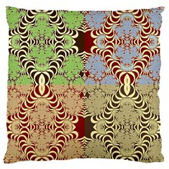 Multicolor Fractal Background Large Cushion Case (one Side) by Amaryn4rt