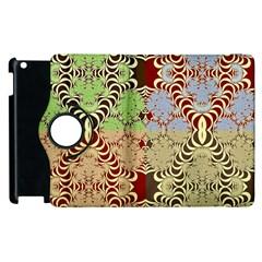 Multicolor Fractal Background Apple Ipad 2 Flip 360 Case by Amaryn4rt