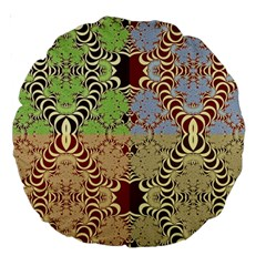 Multicolor Fractal Background Large 18  Premium Round Cushions by Amaryn4rt