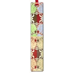 Multicolor Fractal Background Large Book Marks by Amaryn4rt