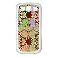 Multicolor Fractal Background Samsung Galaxy S3 Back Case (white) by Amaryn4rt
