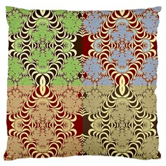 Multicolor Fractal Background Standard Flano Cushion Case (two Sides) by Amaryn4rt