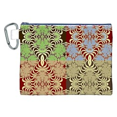 Multicolor Fractal Background Canvas Cosmetic Bag (xxl) by Amaryn4rt