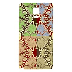Multicolor Fractal Background Galaxy Note 4 Back Case by Amaryn4rt