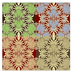 Multicolor Fractal Background Large Satin Scarf (square) by Amaryn4rt