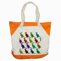 Multicolor Dinosaur Background Accent Tote Bag by Amaryn4rt