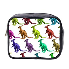Multicolor Dinosaur Background Mini Toiletries Bag 2 Side by Amaryn4rt